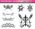 Tattoo shapes set 2 Royalty Free Stock Images