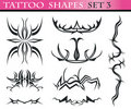 Tattoo shapes set 3 Stock Photo