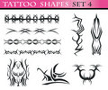 Tattoo shapes set 4 Royalty Free Stock Photography
