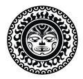 Tattoo styled mask polynesian vector illustration Stock Photography