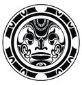Tattoo styled mask polynesian vector illustration Royalty Free Stock Photo