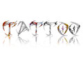 Tattoo text with color tattoo s on each letter a white background Stock Images