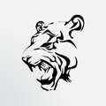 Tattoo of a tiger wild animal Royalty Free Stock Photos