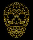 Tattoo tribal mexican skull vector art this is file of eps format Royalty Free Stock Photography
