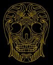 Tattoo tribal mexican skull vector art this is file of eps format Stock Photos