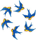 Tattoo vector birds Royalty Free Stock Photo