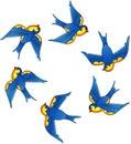 Tattoo vector birds Royalty Free Stock Photo