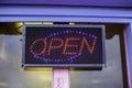 Tatty Old Seaside Neon Open Sign