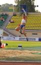 Tatyana Lebedeva: long jump Royalty Free Stock Photo