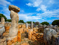Taules of menorca torre de gaumes galmes at balearics en balearic islands spain Stock Photo
