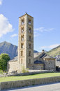 Taull belfry and church of sant climent de lleida catalonia spain Stock Image