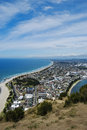 Tauranga in summer view from mt maunganui overlooking Royalty Free Stock Photo