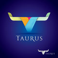 Taurus luxurious and beautifully stylized sign icon Royalty Free Stock Images