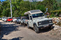 Taurus mountains jeep safari in Antalya, Turkey. Royalty Free Stock Photo
