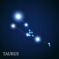 Taurus Zodiac Sign of the Beautiful Bright Stars Royalty Free Stock Photo