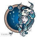 Taurus. Zodiac sign Royalty Free Stock Photo