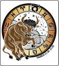 Taurus and the zodiac sign.Horoscope circle. Vecto Royalty Free Stock Photo