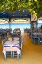 Tavern in Kokkari, Samos Royalty Free Stock Photo