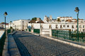 Tavira roman bridge view to on historical Stock Photo
