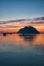 Tavolara island at sunset Royalty Free Stock Photo