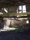 Tawapata south wool shed of yesteryear unused for years the history the s shearing gangs lost to the elements sea time and weather Royalty Free Stock Photos