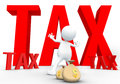 Tax avoidance d human in white background Royalty Free Stock Photos