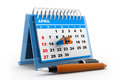 Tax day calender Royalty Free Stock Photo