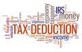 Tax deduction Royalty Free Stock Photo