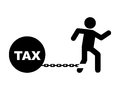 Tax design icon over white background vector illustration Royalty Free Stock Image