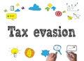 Tax evasion Royalty Free Stock Photo