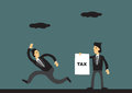 Tax Evasion Concept Funny Cartoon Vector Illustration Royalty Free Stock Photo