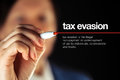 Tax evasion definition Royalty Free Stock Photo