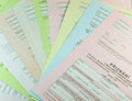 Tax forms various unfilled czech Stock Images