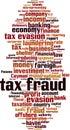 Tax fraud word cloud Royalty Free Stock Photo