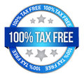 Tax free icon Royalty Free Stock Photo