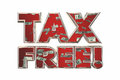 Tax Free Save Money Special Deal Offer Royalty Free Stock Photo