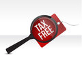 Tax Free Shopping tag Search Royalty Free Stock Image