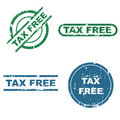 Tax free stamps Royalty Free Stock Photo