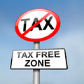 Tax free zone. Royalty Free Stock Photography