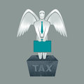 Tax obligation illustration of man with briefcase Stock Photography