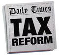 Tax Reform Newspaper Headlines Taxation Relief News