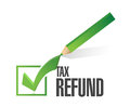 Tax refund check list illustration design over a white background Royalty Free Stock Photos