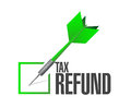 Tax refund dart check list illustration design over a white background Stock Photo