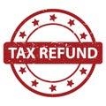 Tax refund stamp