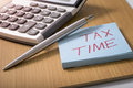 Tax time Royalty Free Stock Photo