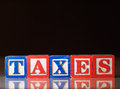 Taxes concept word Royalty Free Stock Image
