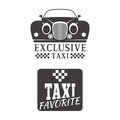 Taxi badge car service business sign template vector illustration.
