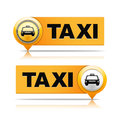Taxi banners two orange on white background Stock Image