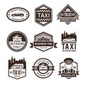 Taxi Black Label Set Royalty Free Stock Photo