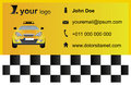Taxi business card template for a company in euro size x millimeter five times magnified i used font arial vector eps format is Stock Photo